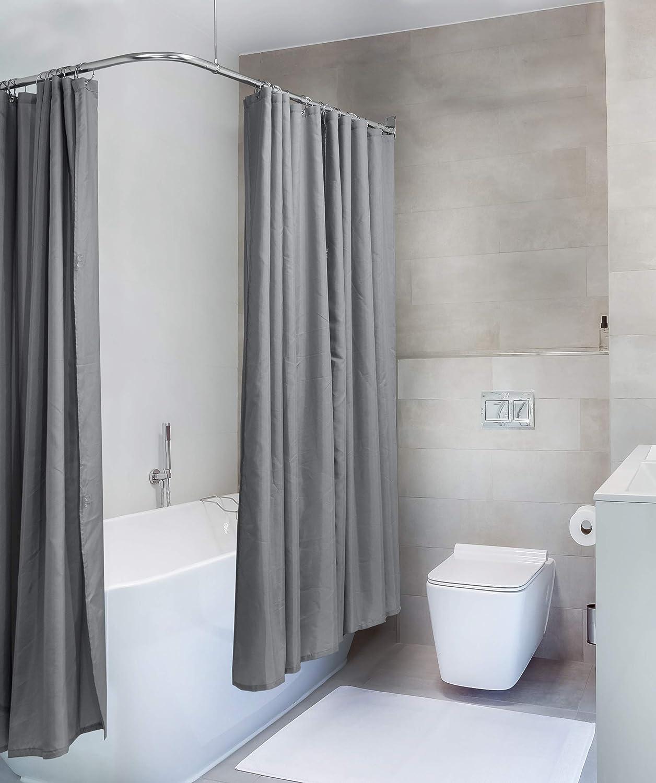 Amazon Com Hudson Brass Works Wo L Shape Shower Curtain Rod