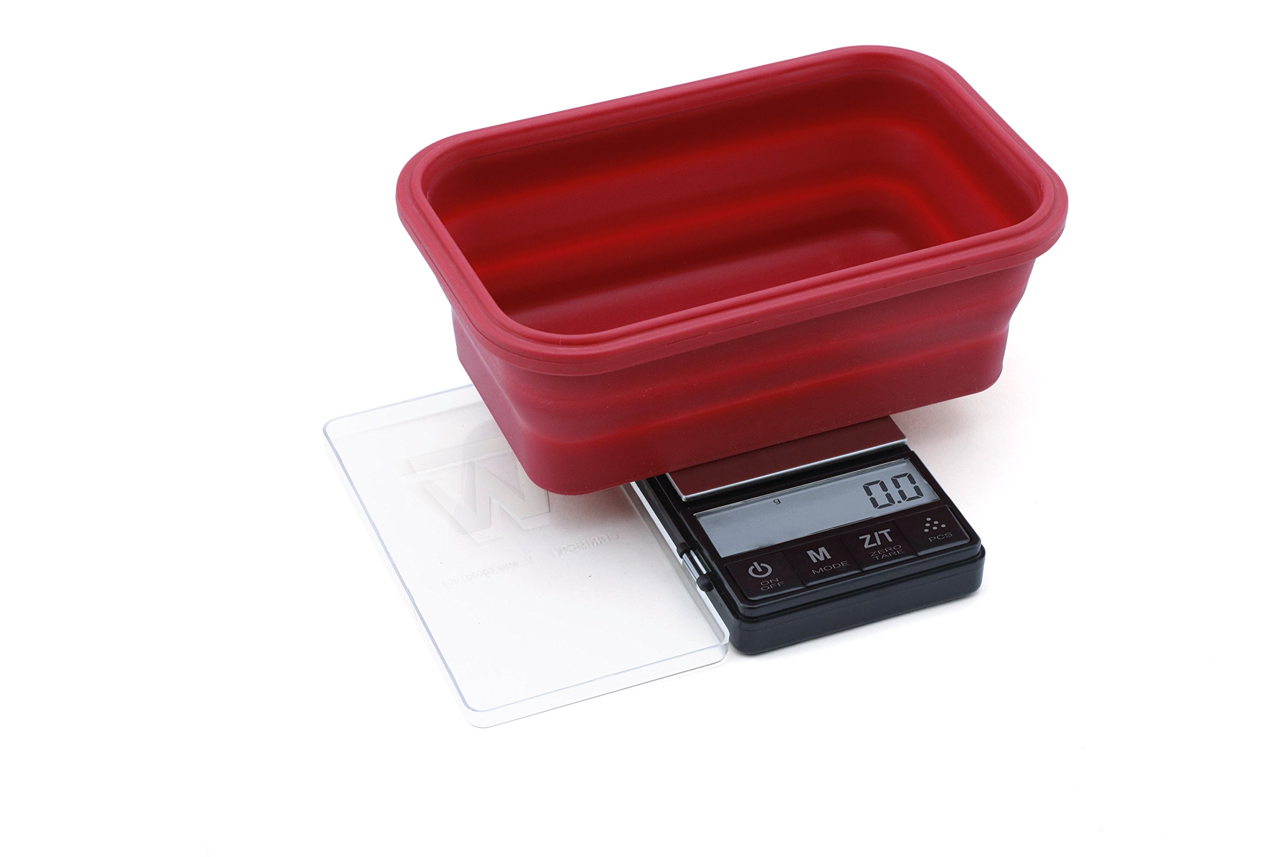 CRIMSON Collapsible Bowl Scale 1000g x 0.1g Black (Bowl: Red)