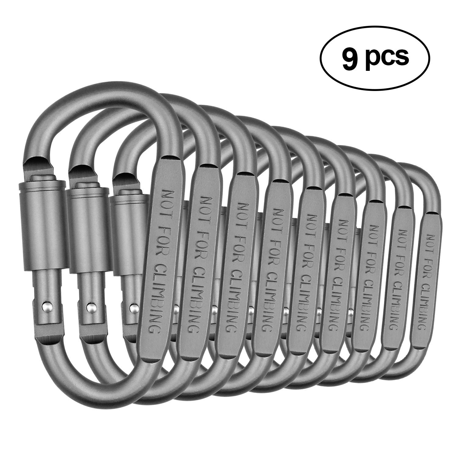 SENWOW Aluminum Alloy D-Ring High Strength Carabiner Key Chain Clip Hook For Camping Hiking (Not for Climbing)