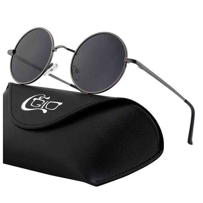 ce234a3c5b CGID E01 Estilo Vintage Retro Lennon inspirado círculo metálico redondo  gafas de sol polarizadas para hombres y mujeres: Amazon.es: Ropa y  accesorios