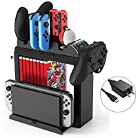 Game Storage Tower for Nintendo Switch, Kinvoca Switch Organizer Compatible with...
