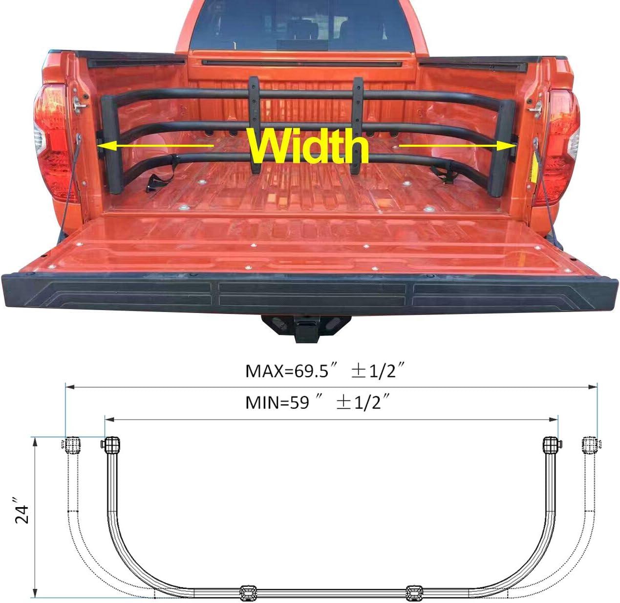 Bracket Kit Spurtar Truck Bed Extender Black Aluminum HD Max Universal Tailgate Extension for Pickup Trucks incl