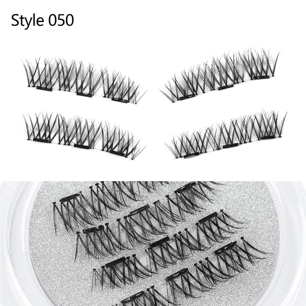 Amazon.com : 1 Set Handmade Makeup Full Coverage Triple Magnetic False Eyelashes Soft Cross Long Magnet Eye Lashes Make Up Extension Tools : Beauty