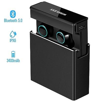 Amazon.com: Audífonos inalámbricos Bluetooth 5.0, control ...