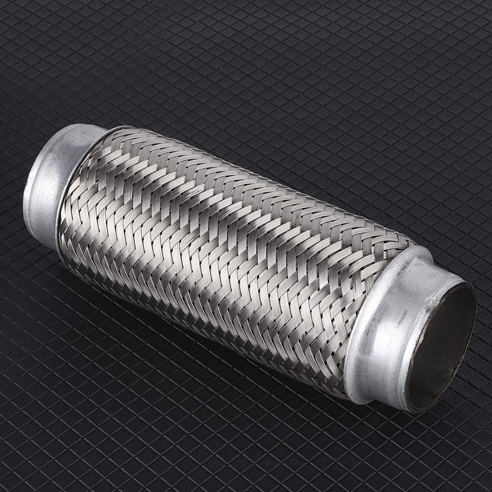 51MM*200MM tuyau flexible d/échappement universel en acier inoxydable Tube Flexi Joint accessoires de r/éparation de voiture argent Tuyau Flexible d/échappement