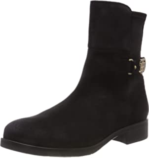 Tommy Hilfiger Th Buckle Leather Bootie, Botines Femme  Amazon.fr ... b4c9ae6baa7b