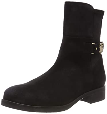 0ad36263b372 Tommy Hilfiger Women s s Th Buckle Bootie Stretch Ankle Boots ...
