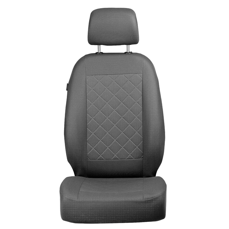 /Color Premium Gris tintada cuadros /Fundas de asiento para conductor y pasajero/ Berlingo delantero/