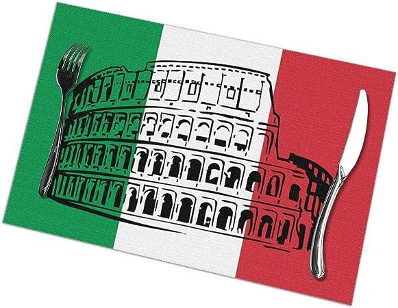 Aeykis Manteles Italianos Coliseo Romano Manteles Individuales para Mesa de Comedor Juego de 6 tapetes de Mesa de Cocina: Amazon.es: Hogar