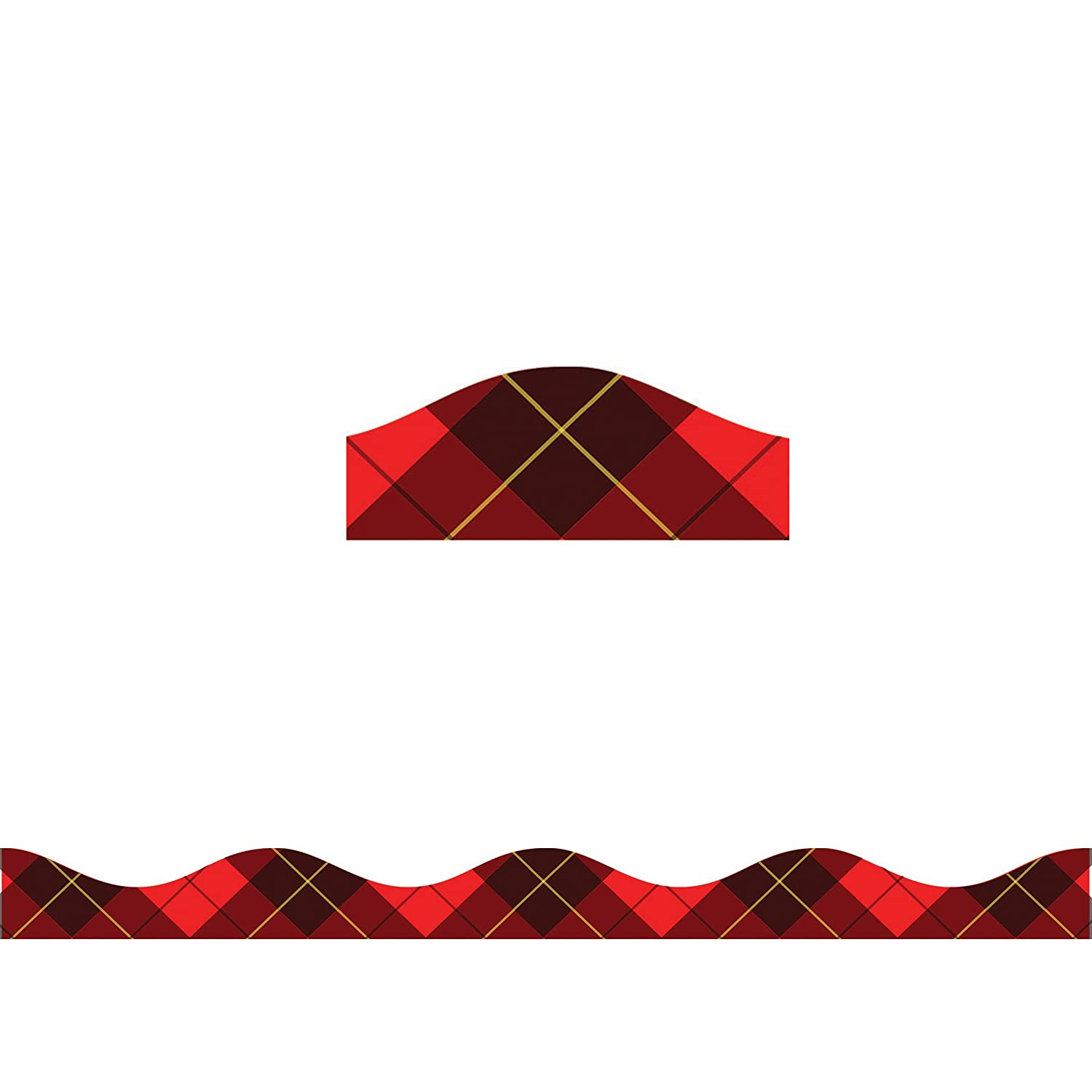 Red ASH10270 Ashley Productions Plaid Magnetic Border