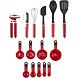 KitchenAid Classic Tool and Gadget Set, 15-Piece, Empire Red