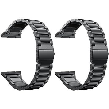 ruentech para Fitbit banda iónico - sólido y de metal correa ...