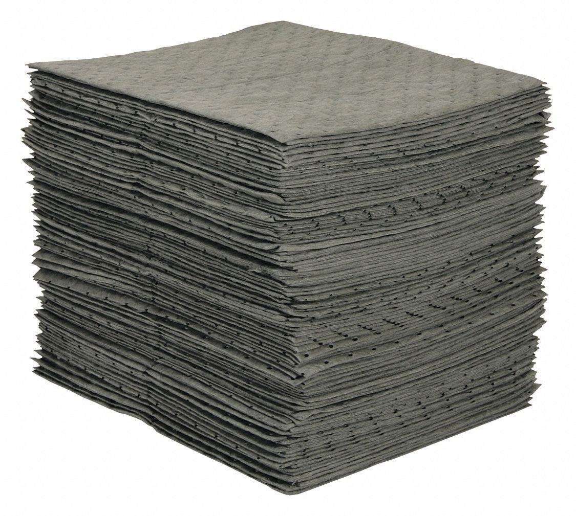 Absorbent Pads,19 In W,PK50 BRADY SPC ABSORBENTS MRO100-2 L,15 In