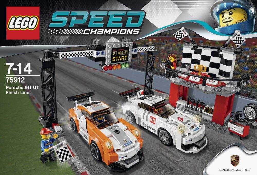 LEGO Speed Champions - Línea de meta del Porsche 911 GT (6100009): Amazon.es: Juguetes y juegos