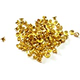 TOOLSCENTRE Metal Eyelet for Grommet Hole Rivets (Golden, 250 Piece)