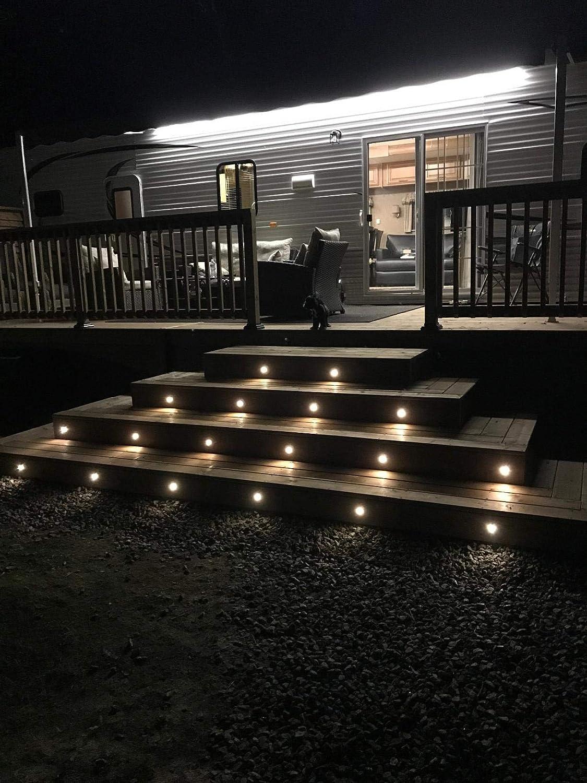 LED Bodeneinbauleuchten Aussen 0.6W Terrassen Einbaustrahler /Ø30mm DC12V LED Boden Licht Warmes Wei/ß IP67 Wasserdicht LED Einbauleuchten Deckenstrahler f/ür K/üche Garten Treppen Bad Balkon