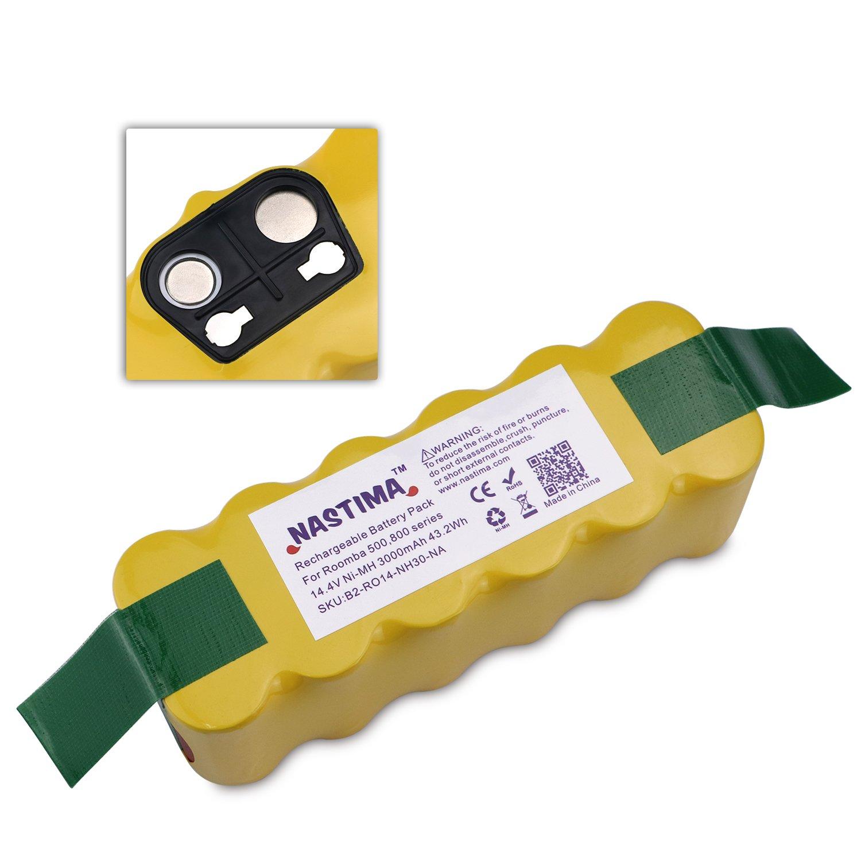 Amazoncom Nastima 144v Ni Mh Replacement Battery For Irobot Roomba External Serial Port Diagram 500 600 700 800 Series 3000mah