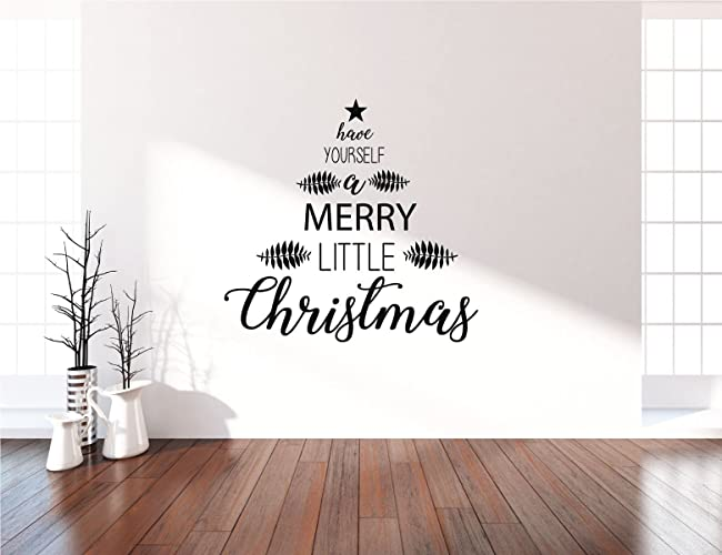 Amazon farmhouse christmas tree wall decals have yourself a farmhouse christmas tree wall decals have yourself a merry little christmas holiday vinyl stickers solutioingenieria Images