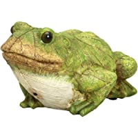 Bits and Pieces - Frog Motion Sensor Statue - Weather Resistant Hand-painted Polyresin Sculpture - Garden Decoration