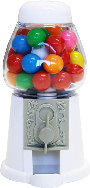 ModParty White Gumball Machine Kids Party Favors, Set of 6, Bubble Gum Mini Candy Dispenser (GUMBALLS NOT INCLUDED)