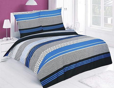 Imagen deJuego de ropa de cama con 2–3piezas de Buymax, edredón (con cremallera, de algodón 100 %, Oeko-Tex), 100 % algodón, 30, 200 x 200 cm