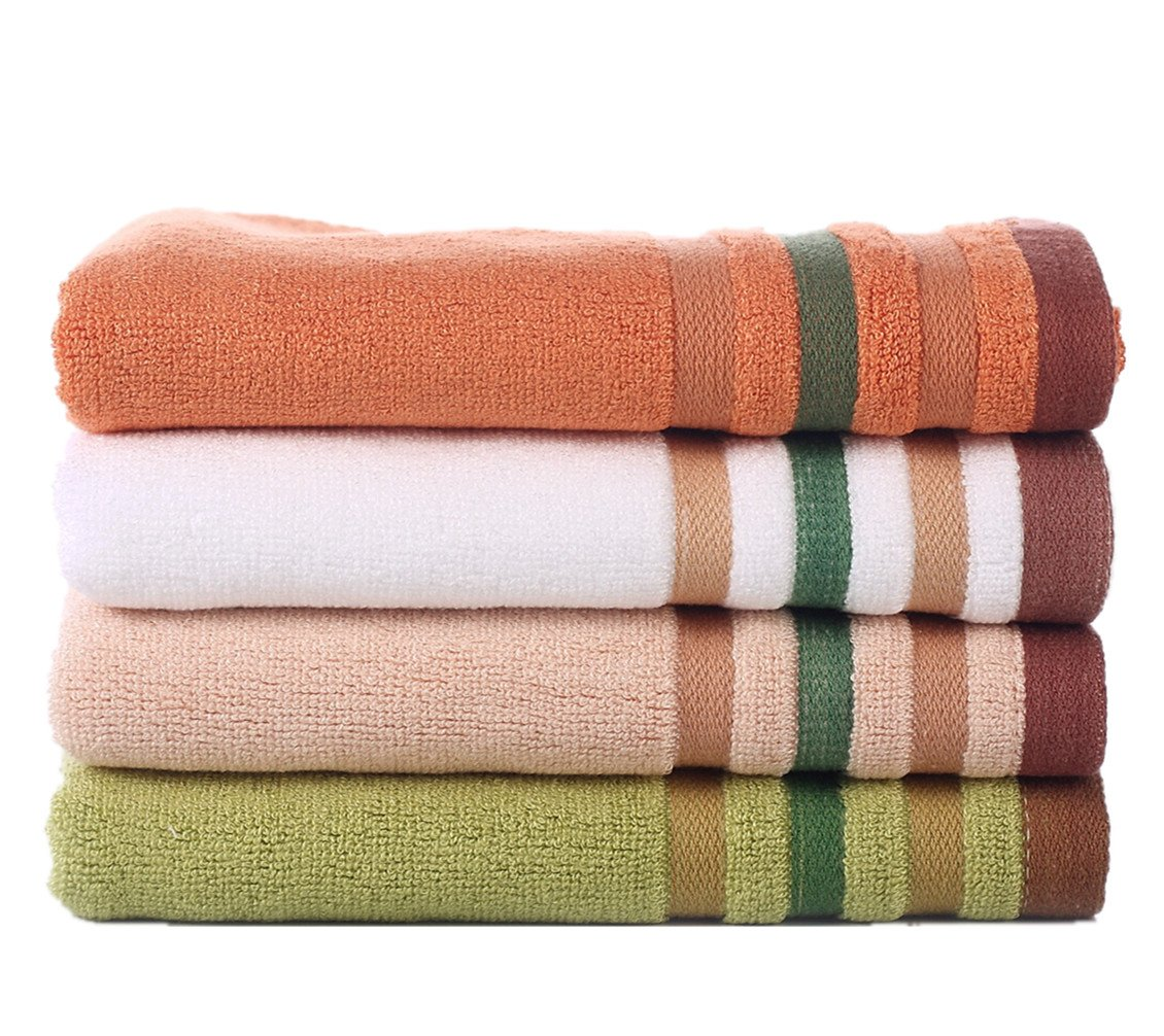 NO.1987 commerce Luxury Face Cloth,4-pack Adult Organic Bamboo Washcloths 13x13 softxFF0C; Highly Absorbent xFF0C;Thick, Large Fingertip Towels (13x13 4-pack)