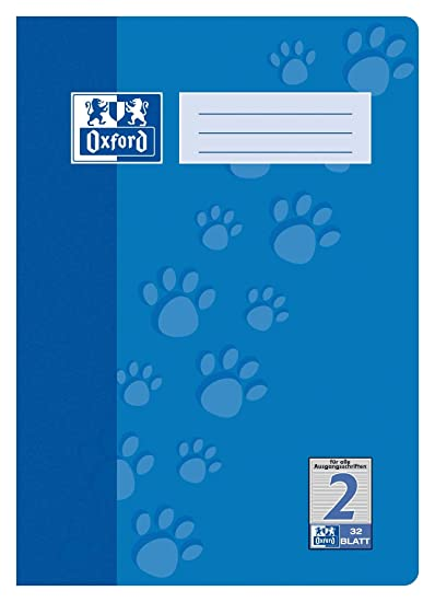 Oxford 384401622//100050308/Exercise Book A4/Line Style 22/Squared 5/mm/ /90/g//m/² Pack of 4/Assorted