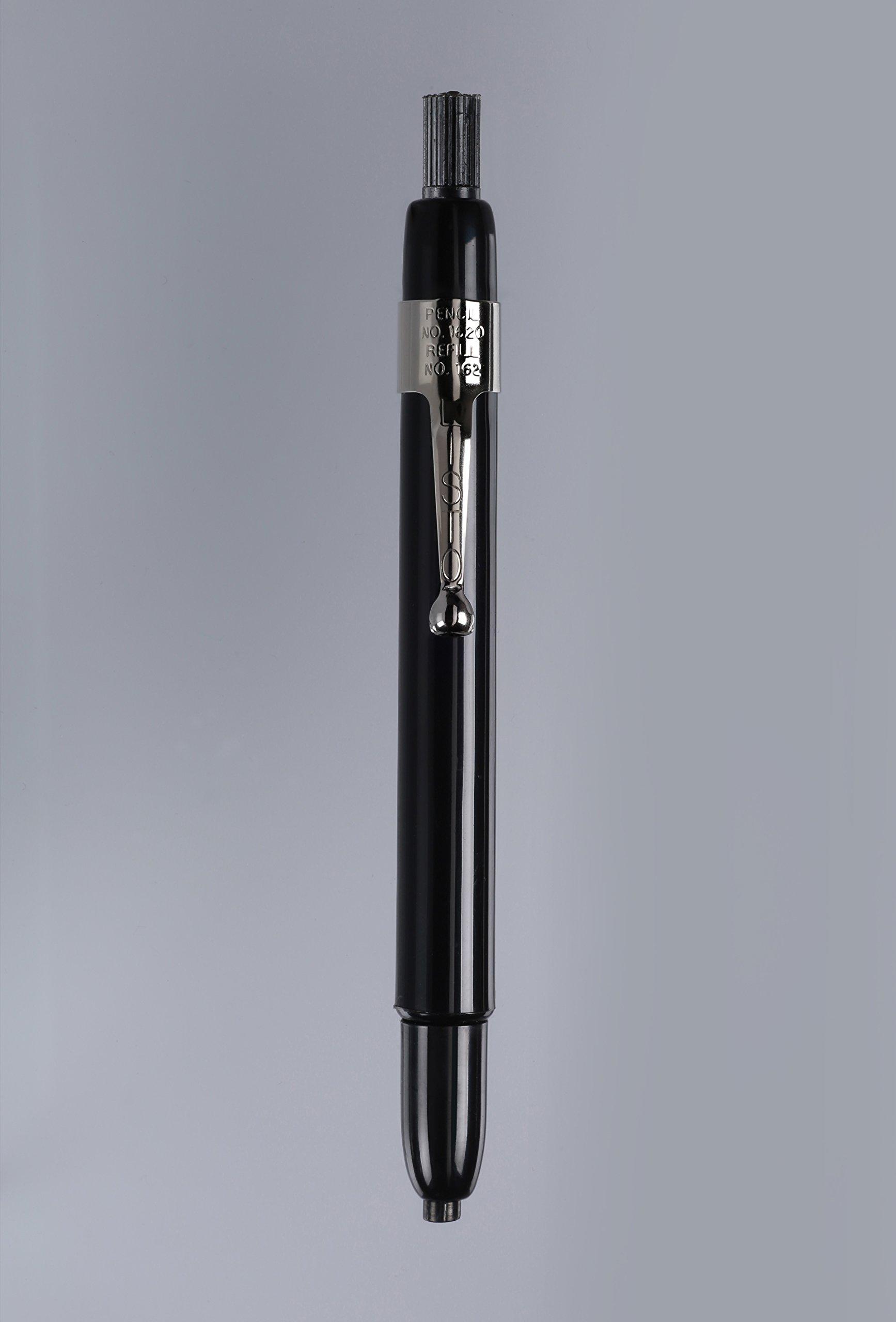Bundle of Listo 1620 Marking Pencil/Grease Pencils/China Marking Pencils/Wax Pencils - Black, Box of 12 With 72 Refills With Bonus Magnetic Memo Clip by Listo (Image #2)