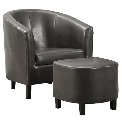Amazon Com Giantex Modern Leisure Chair Pu Leather Wooden
