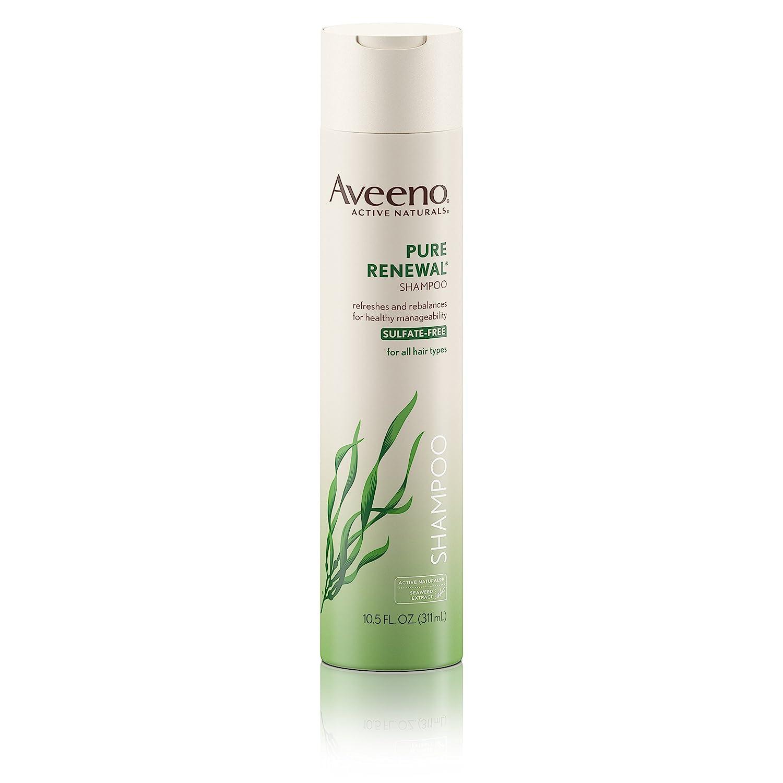 Aveeno Pure Renewal Hair Shampoo, Moisturizing Shampoo with Seaweed Extract, Sulfate-Free Formula 10.5 fl. oz