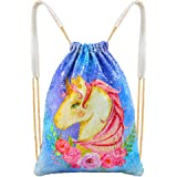 MHJY Mermaid Bag Sequin Drawstring Backpack Dancing Bag Fashion Dance Bag Sequin Backpack Flip Sequin Bling Bag for Beach Hiking Bags