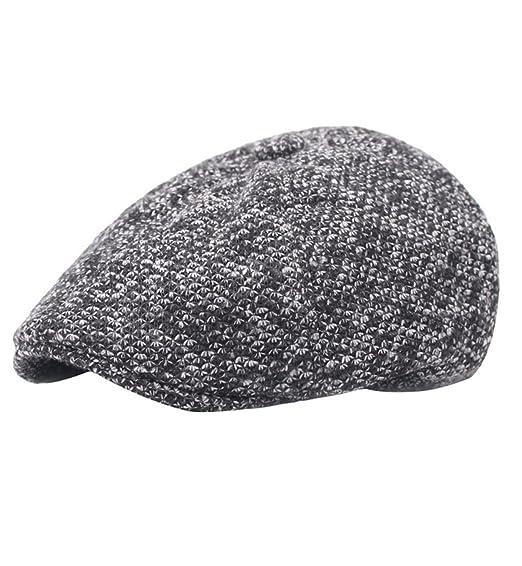 9a86b8a6b04d3 Sumolux Men Winter Earmuffs Newsboy Caps Thicker Warm Woollen Gatsby Hat at  Amazon Men s Clothing store