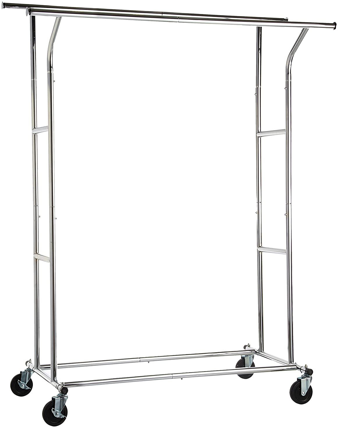 AmazonBasics Rolling Double Rail Clothing Garment Rack on Wheels