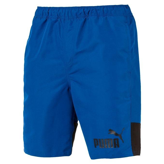 Pantalones cortos de baño PUMA para hombre, LETRA DE PUMA CORTOS, colores sólidos, logotipo de PUMA CAT, S-XXL
