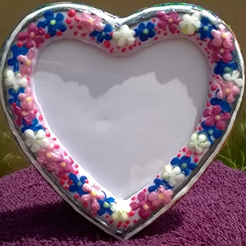 Amazon.com: Small Heart Shaped Hand Painted Frame: Handmade