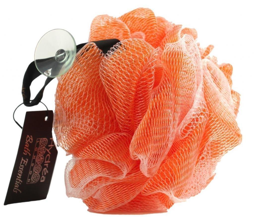 Spugna a rete esfoliante per il corpo di grande qualità/ color arancio- bagno e doccia Hydrea London