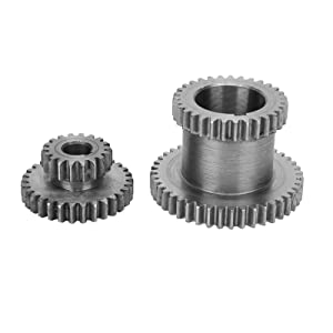 CJ0618-024/CJ0618-014 Hi‑Lo Metal Gear Set,M2.25 Fixed Double Gear,Sliding Double Gear,for Chemical,Food Processing,Woodworking Machinery