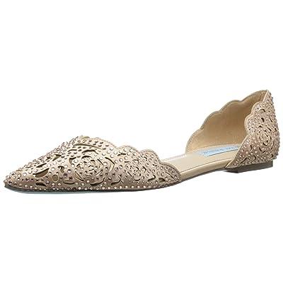 Blue by Betsey Johnson Women's SB-Lucy, Blush Satin, 7 M US | Sandals