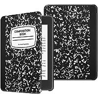 Fintie SlimShell Funda para Kindle Paperwhite (10.ª generación, 2018) - Carcasa Fina y Ligera de Cuero Sintético con Función de Auto-Reposo/Activación, Cuaderno