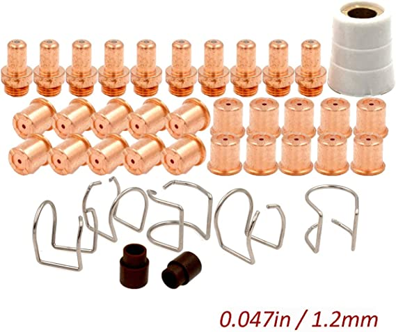 Electrode Tip Kit PR0063 PD0088-12 for Eastwood Versa-Cut 60amp Cutter CB70 Torch Plasma Arc Cutting Consumables PKG38