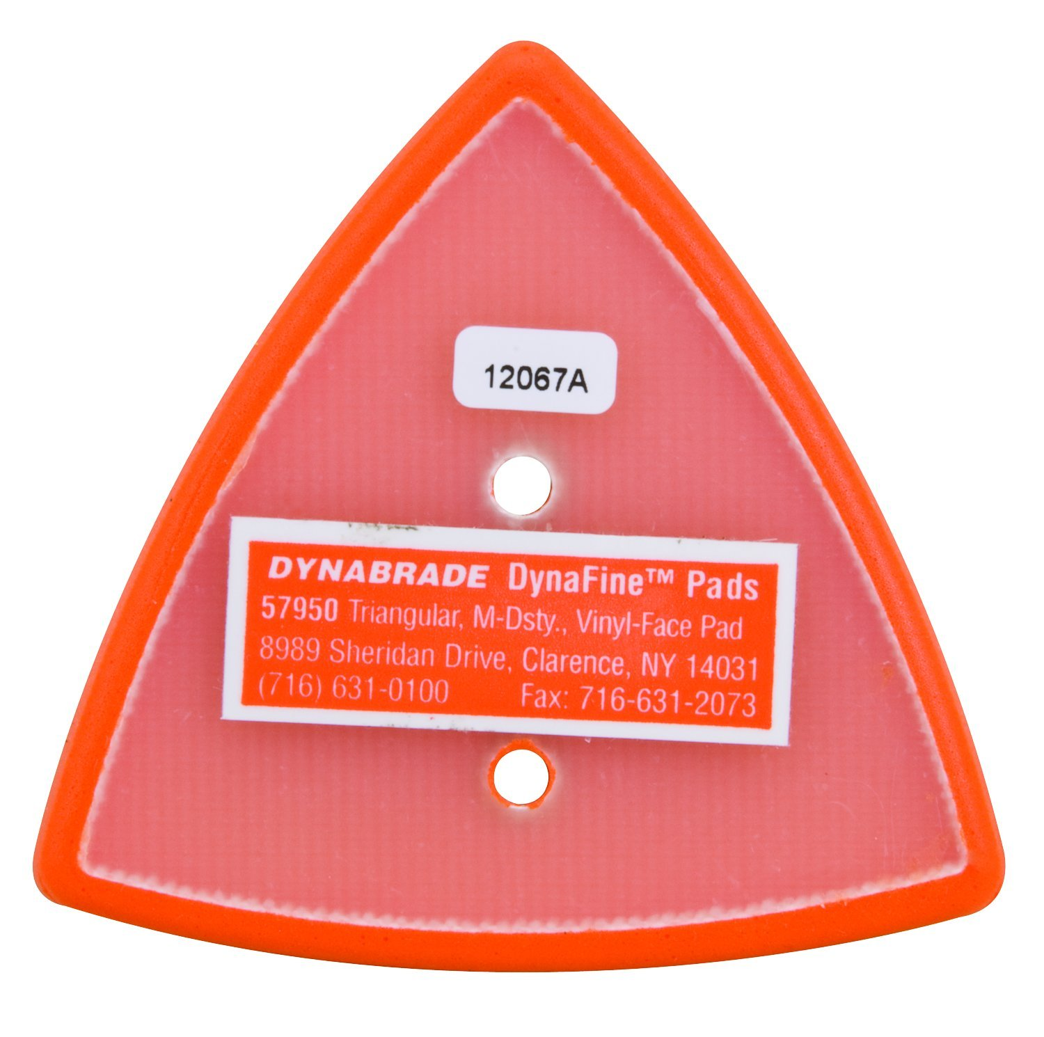 Dynabrade 57950 Non-Vacuum Dynafine Triangular Disc Pad 2-7//8-Inch by 3-1//8-Inch Inc.