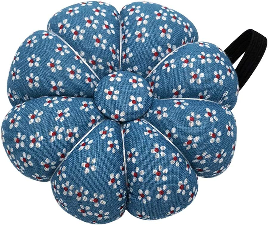 Loweryeah Pin Cushions Wearable Needle Pincushions Polka Orchid Bloom for Sewing Quilting Pins Holder