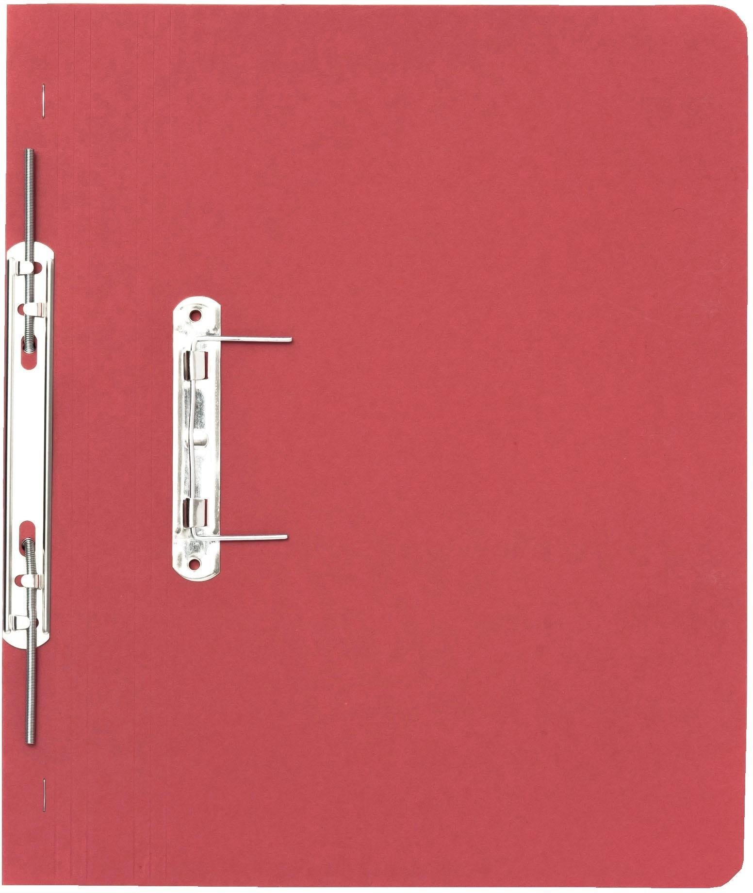 Guildhall 315 GSM Spiral Files, Foolscap, Red, Pack of 50