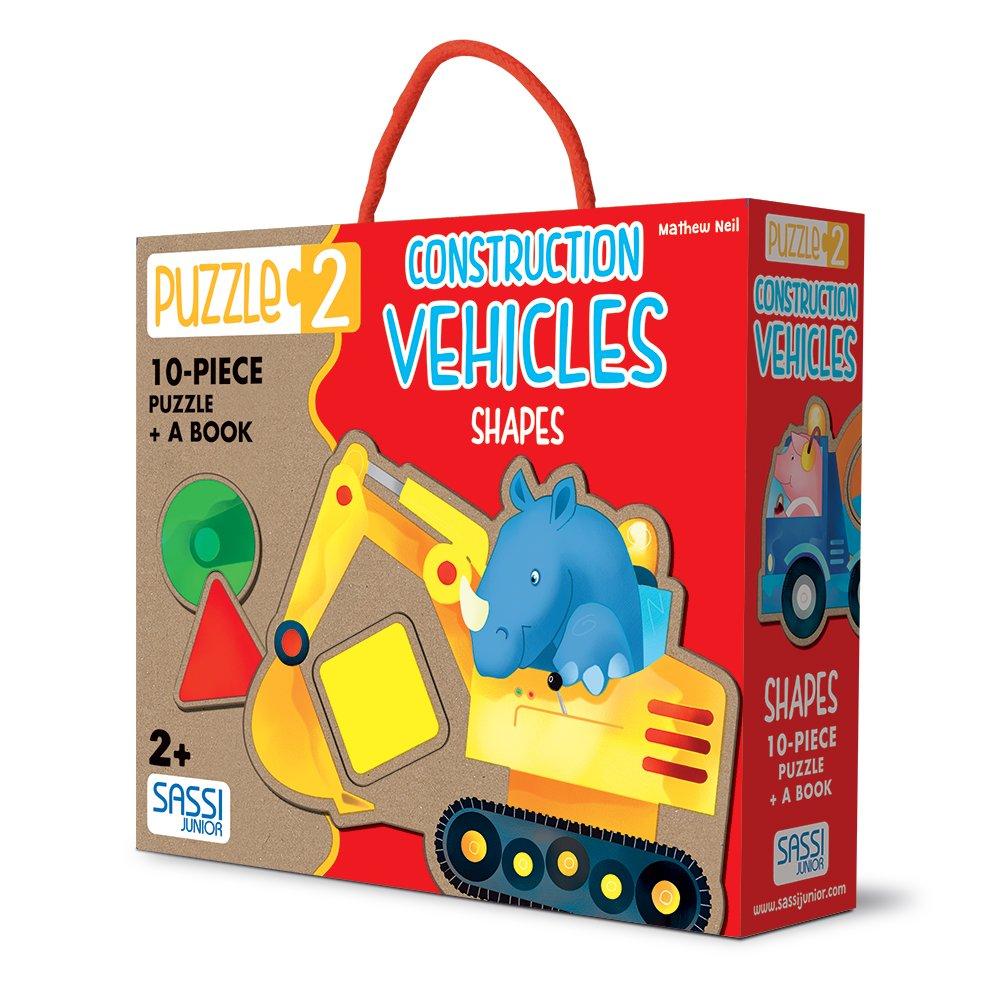Construction Vehicles. Shapes (Puzzle 2)