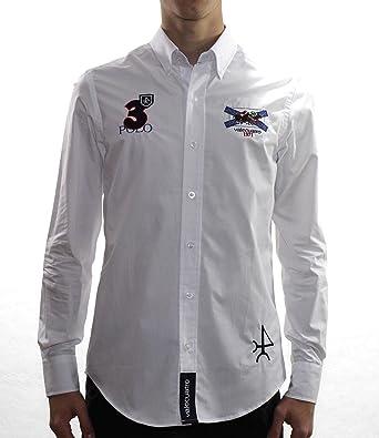 Valecuatro Camisa H Cruz, Blanco, S para Hombre: Amazon.es ...