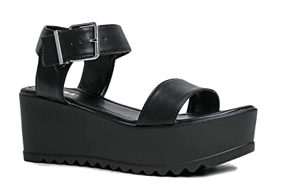 9f8e46bef1217 J. Adams Surf Women's Platform Open Toe Buckle Sandal