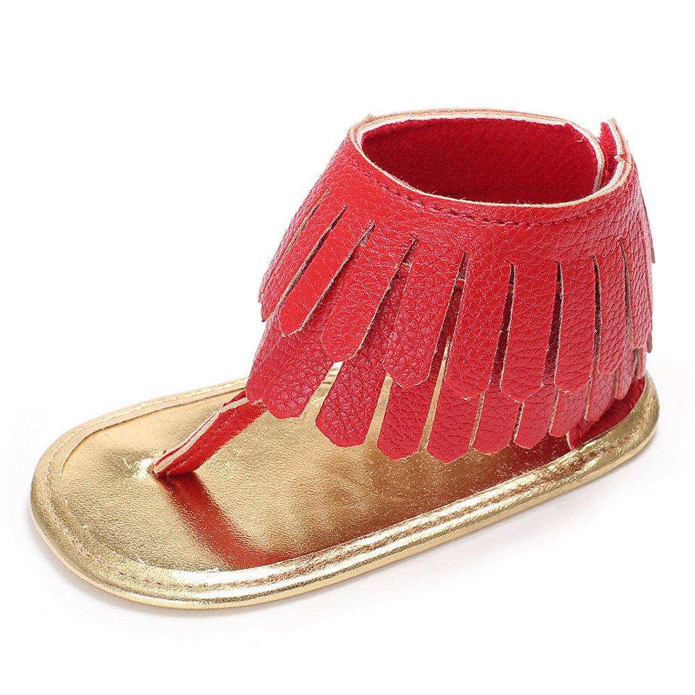 b74f93a187117 Manadlian Chaussures Bébé Fille Sandales Chaussures Fleur Doux Semelle Anti-Dérapant  Bébé Sneakers Casual