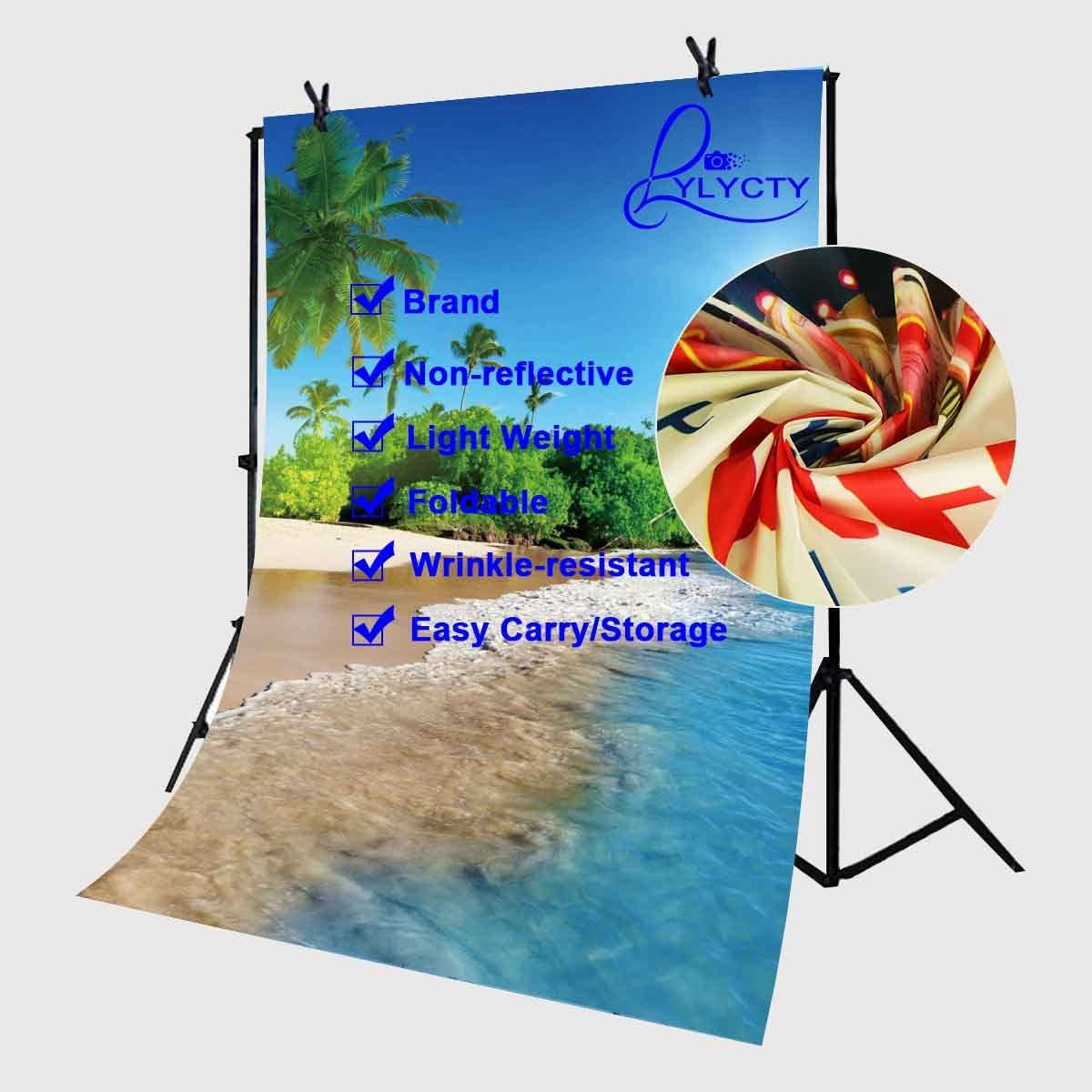 Summer Storm About to Appear with Flash on The Field Solar Illumination Energy Theme Background for Baby Shower Bridal Wedding Studio Photography Pictures Nature 10x15 FT Photography Backdrop