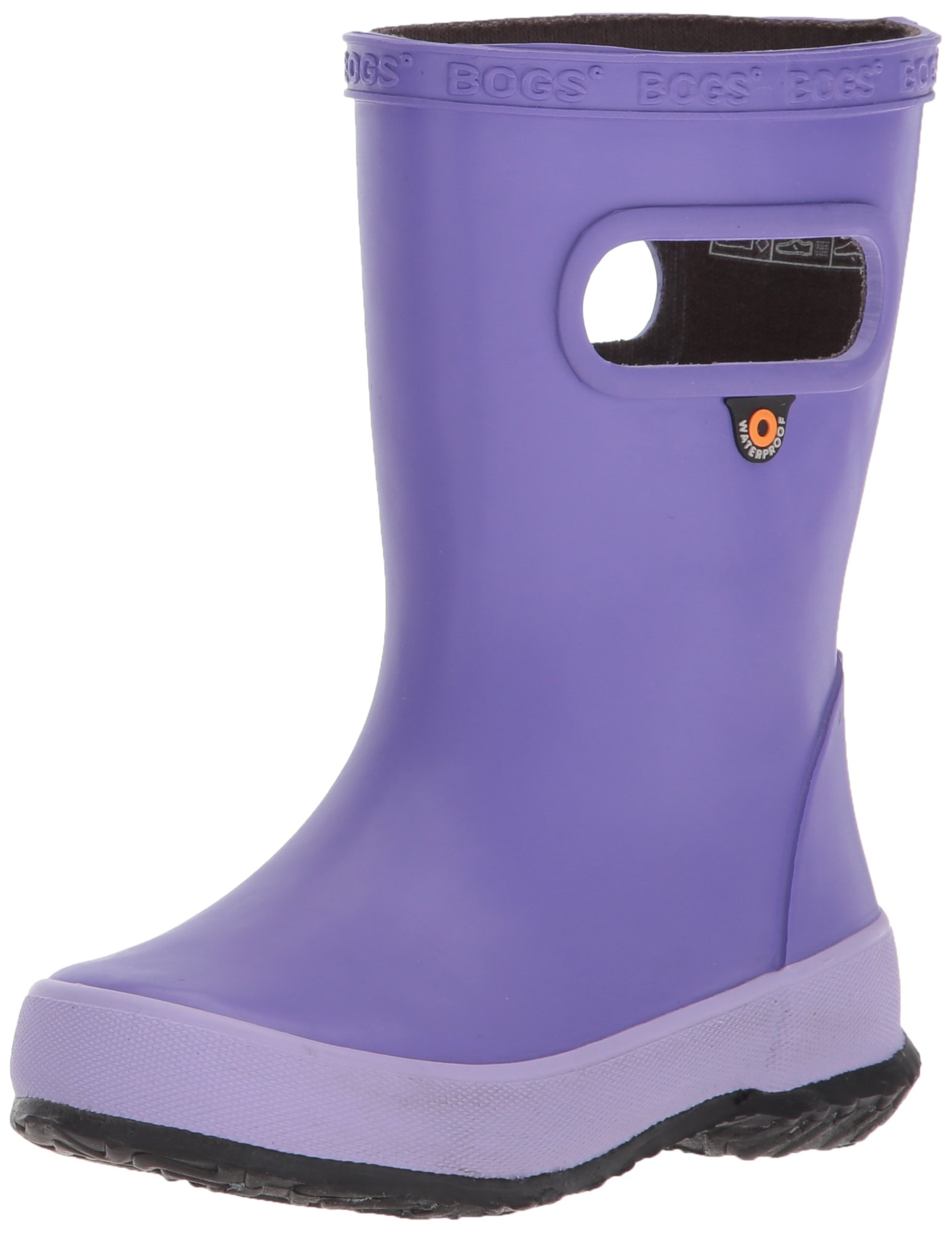 Bogs Kids' Skipper Waterproof Rubber Rain Boot for Boys and Girls,Solid Violet,11 M US Little Kid by Bogs (Image #1)
