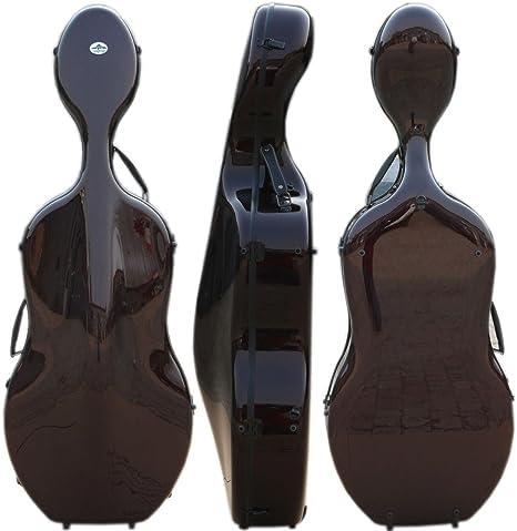 Yinfente 4/4 - Funda para violonchelo (tamaño completo, fibra de carbono, luz fuerte, estilo Montagnana, funda de violonchelo): Amazon.es: Instrumentos musicales
